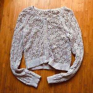NWOT FREE PEOPLE Knit Crochet Cardigan Sweater